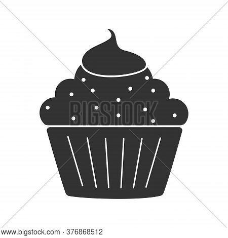 Muffin Icon. Simple Vector Illustration For Websites And Apps, Isolated On A White Background