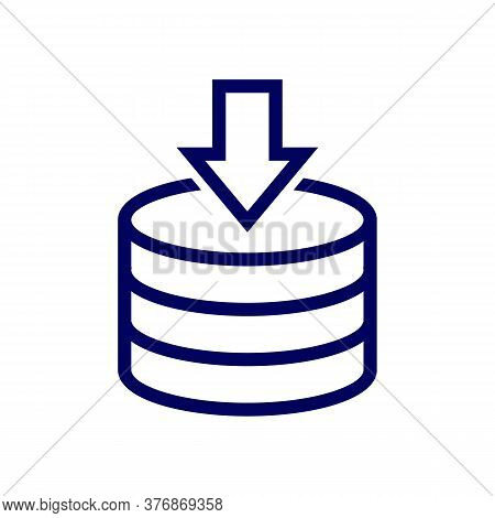 Backup Server Vector Icon. Information And Database Protection Creative Concept. Cloud Processing Ba