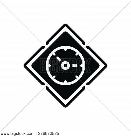Black Solid Icon For Time Dials Clock Analog Countdown Time-efficiency Timepiece Wall-watch