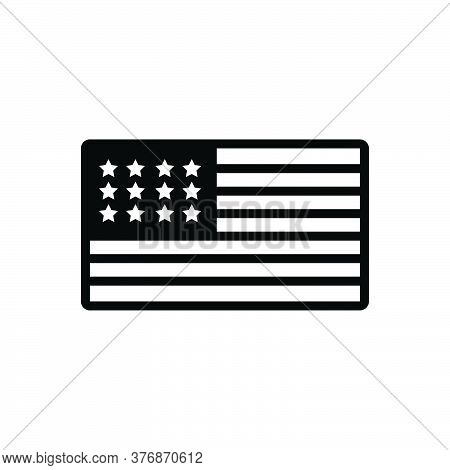 Black Solid Icon For Usa Flag Country Federal National Patriotic United United- State-of-america