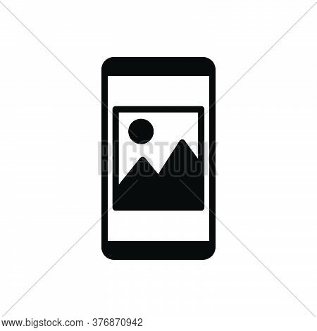 Black Solid Icon For Photos Images Album Picture Camera App Gallery Photography Frame Mobile