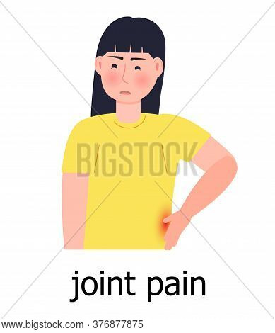 Joint Pain Icon Vector. Osteoporosis World Day Concept, Osteoarthritis Anatomical Illustration. Spin