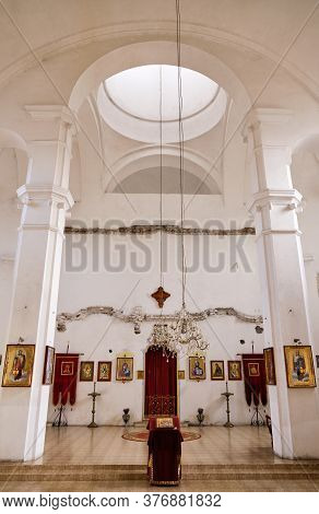 Interior Of The Sisatovac Monastery In The Srem Region Of Vojvodina In Serbia