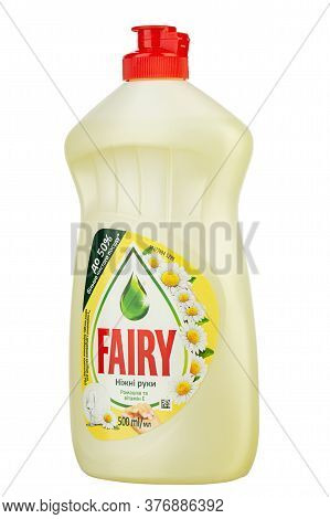 Ukraine, Kyiv - June 01. 2020: Bottle Of Fairy Washing Up Liquid, Produced By Procter & Gamble And S