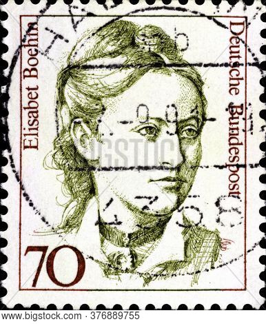 02 09 2020 Divnoe Stavropol Territory Russia The Postage Stamp Germany 1991 Famous Women Elisabeth B