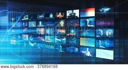 Interactive Media and Digital Entertainment as Art 3d Render
