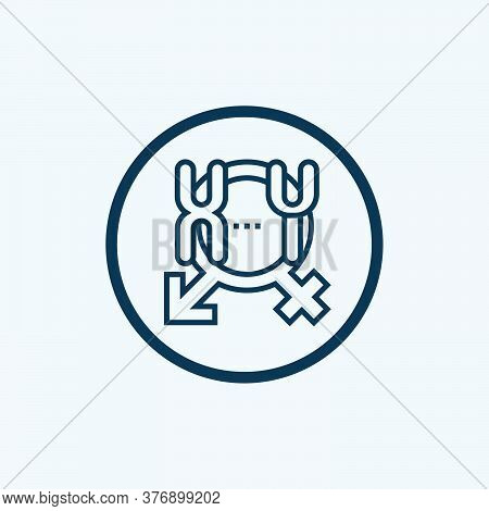 Chromosome Icon. Simple Line Element From Biotechnology Icons Collection. Outline Chromosome Icon Fo