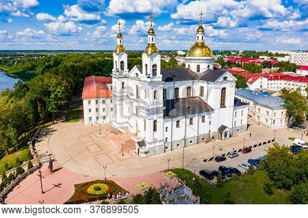 Vitebsk, Belarus - July 20, 2019 - Holy Spirits Convent Of The Vitebsk Diocese In The City Center