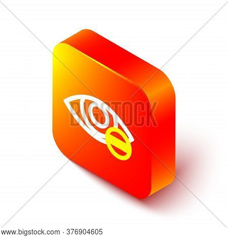 Isometric Line Red Eye Effect Icon Isolated On White Background. Eye Redness Sign. Inflammatory Dise