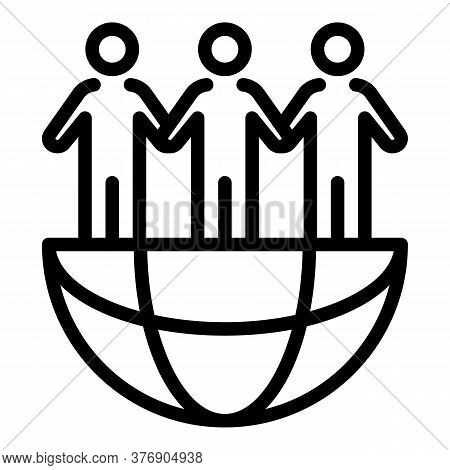 Global Immigrants Icon. Outline Global Immigrants Vector Icon For Web Design Isolated On White Backg