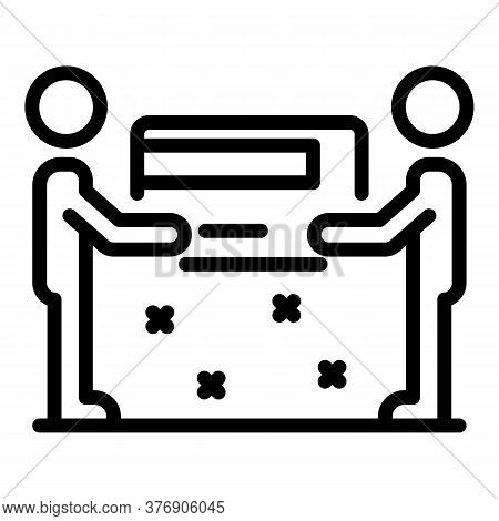 Credit Card Part People Icon. Outline Credit Card Part People Vector Icon For Web Design Isolated On