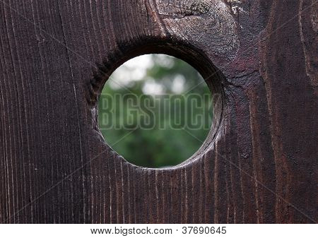 Peephole In A  Door
