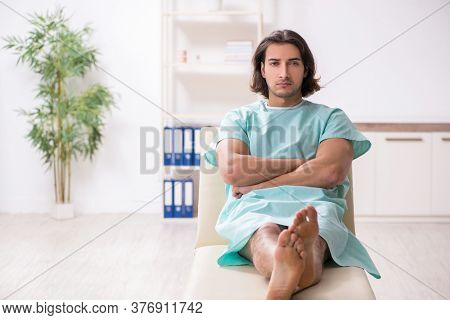 Young mad man in the hospital