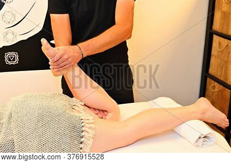 Relaxing Massage. Concept For Health, Relaxation And Beauty.
