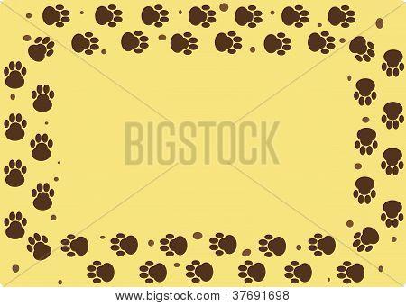 Dog Muddy Tracks