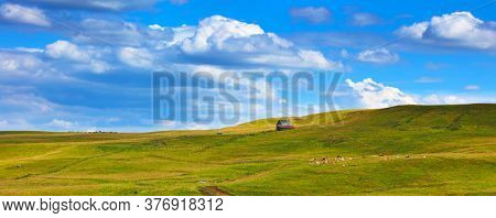 panorama of france landscape countryside- Cantal