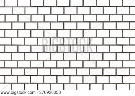 White Brick Wall Texture And Seamless Background. Brickwork Or Stonework Flooring Interior Rock Old