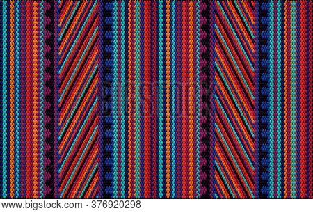 A Traditional Ornament Of Peoples And Countries Of Latin America In Which Rich Colors Attract Attent
