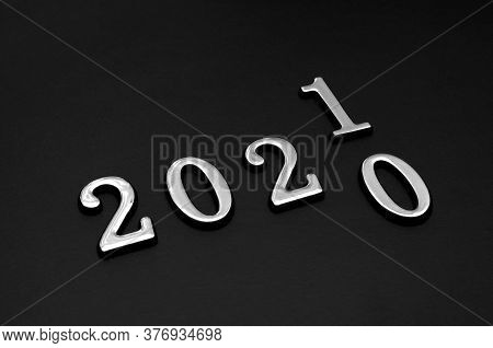 Changes The Year 2020 To 2021. New Year, Business And Planning Cover Page Concept