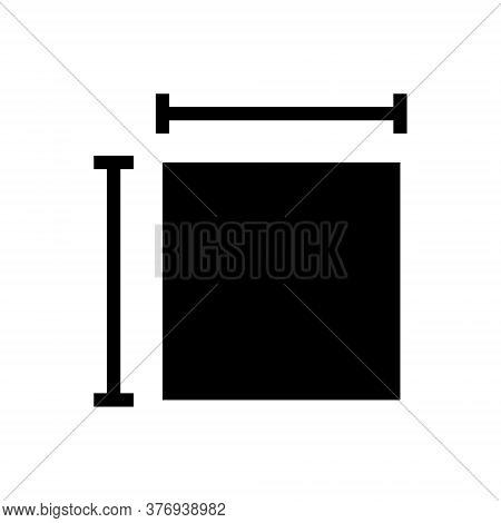 Length Width Outline Icon. Symbol, Logo Illustration For Mobile Concept And Web Design.