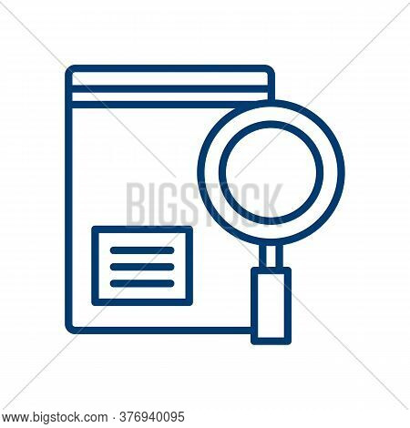 Evidence Icon. Thin Linear Evidence Outline Icon Isolated On White Background From Law And Justice C