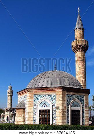 Mosque (konak Camii) And Clock Tower (saat Kulesi)