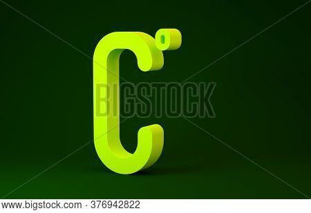 Yellow Celsius Icon Isolated On Green Background. Minimalism Concept. 3d Illustration 3d Render
