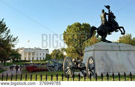 Washington,dc -  Oct.2013 - Lafayette Square. Lafayette Square Is A Seven-acre Public Park Located D