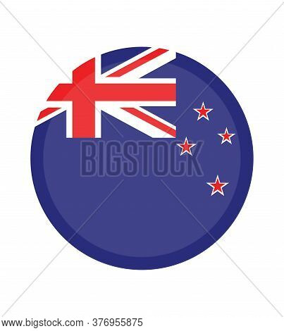 National Flag New Zealand.  New Zealand Flag, Official Colors. National  New Zealand Flag.