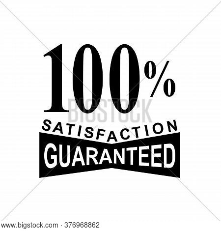 Mark Seal Sign Illustration Showing 100% Percent Satisfaction Guaranteed Stamp On Isolated Backgroun