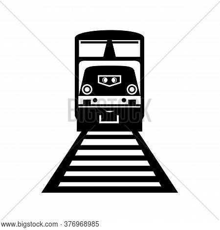 Illustration Of A Diesel Train, A Railway Locomotive In Which The Prime Mover Is A Diesel Engine, On