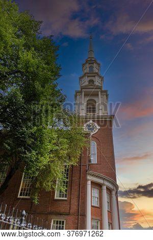 Old Park Street Church In Boaton, Massachusetts
