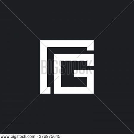 Abstract Letter Cg Square Geometric Line Design Symbol Logo Vector