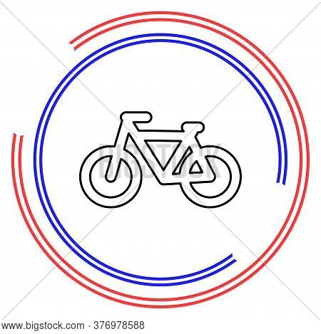 Vector Bicycle Icon, Vector Bicycle Illustration - Sport Symbol. Thin Line Pictogram - Outline Edita