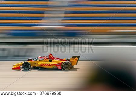 July 18, 2020 - Newton, Iowa, USA: RYAN HUNTER-REAY (28) of the United States practices for the Iowa INDYCAR 250s at the Iowa Speedway in Newton, Iowa.