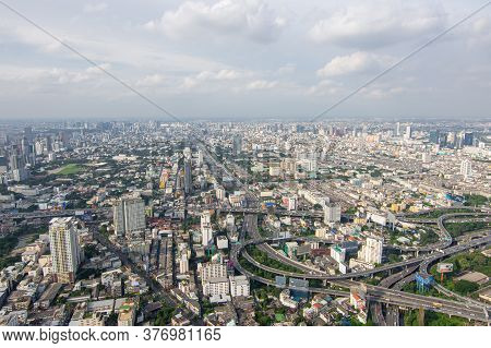 Cityscape With Expressway And Traffic Of Bangkok