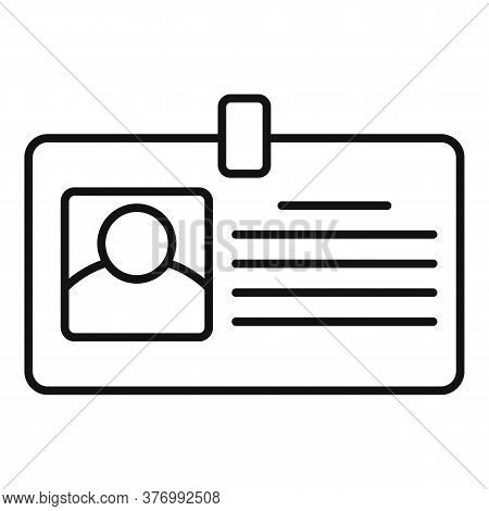 Tax Inspector Id Card Icon. Outline Tax Inspector Id Card Vector Icon For Web Design Isolated On Whi