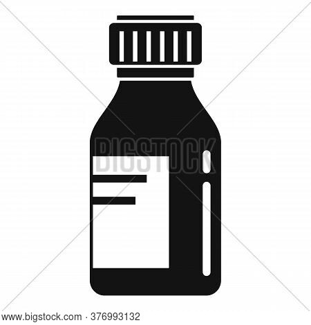 Medical Cough Syrup Icon. Simple Illustration Of Medical Cough Syrup Vector Icon For Web Design Isol