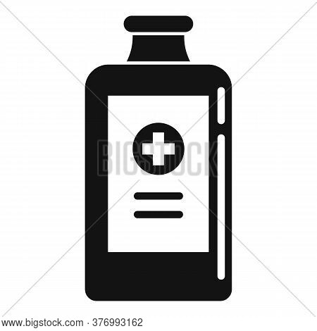 Healthcare Cough Syrup Icon. Simple Illustration Of Healthcare Cough Syrup Vector Icon For Web Desig