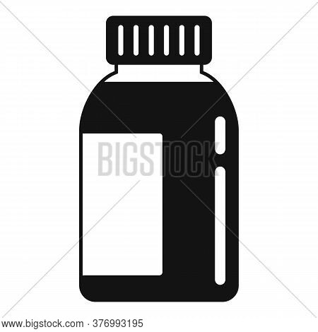 Liquid Cough Syrup Icon. Simple Illustration Of Liquid Cough Syrup Vector Icon For Web Design Isolat