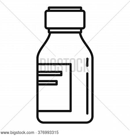 Pharmacist Cough Syrup Icon. Outline Pharmacist Cough Syrup Vector Icon For Web Design Isolated On W