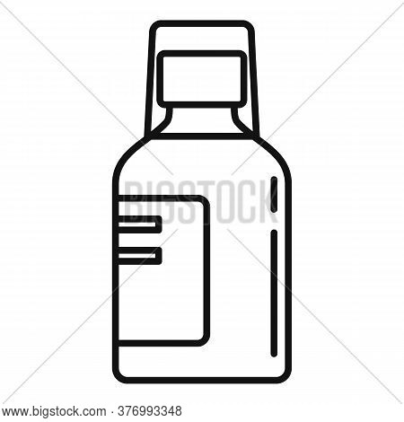 Medicine Cough Syrup Icon. Outline Medicine Cough Syrup Vector Icon For Web Design Isolated On White