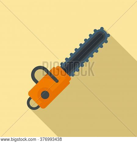 Cutter Chainsaw Icon. Flat Illustration Of Cutter Chainsaw Vector Icon For Web Design