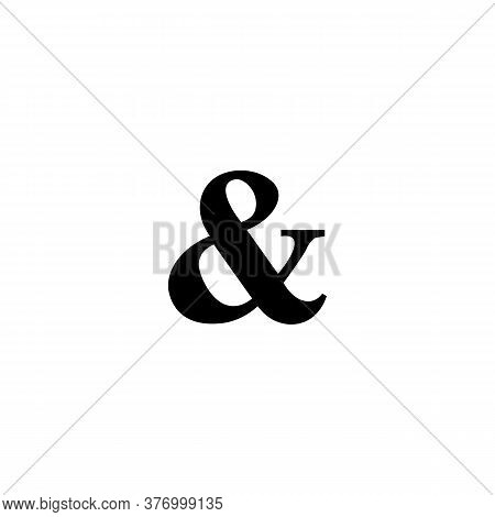 Icon Black Sign Ampersand. Vector Illustration Eps 10