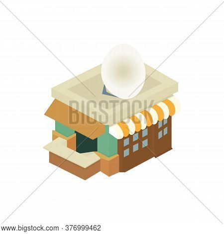 Realistic Cafe Diner Icon. Vector Illustration Eps 10