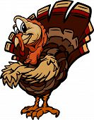 Cartoon Vector Image of a Thanksgiving Holiday Turkey with Crossed Arms poster