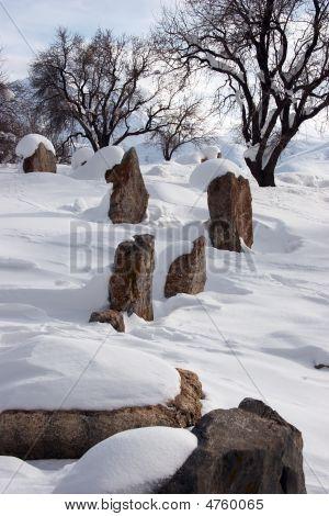 Graveyard At Akdamar Island, Turkey