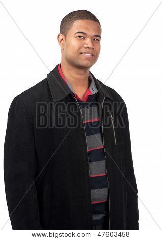 Confident Young Man Smiling