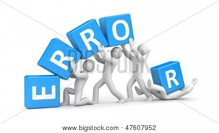 Error. Teamwork metaphor.