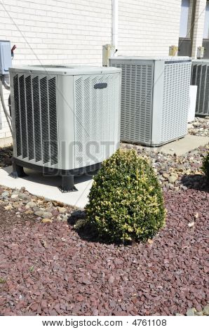 Two Air Conditioner Compressors